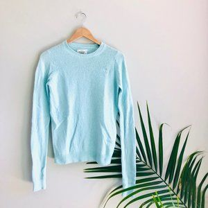 Abercrombie & Fitch Crew Neck Sweater Light Blue
